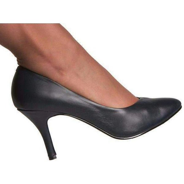 Genuine Leather Pump-Blue