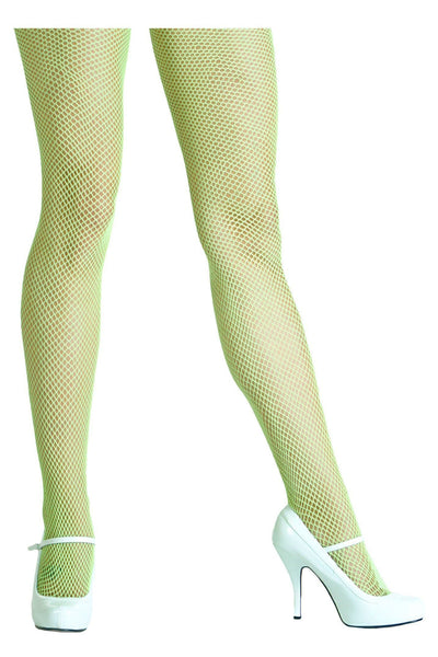 Nylon Fishnet Pantyhose - Green