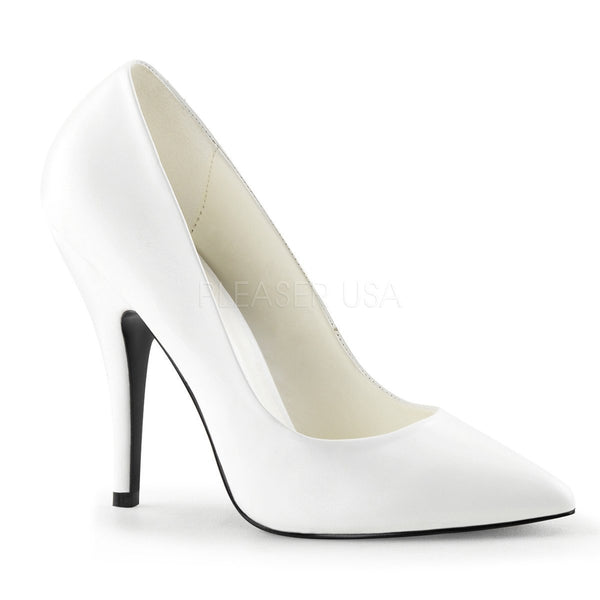SEDUCE-420 Pump  | White Faux Leather