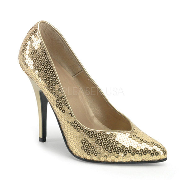 SEDUCE-420SQ Pump  | Gold Sequins