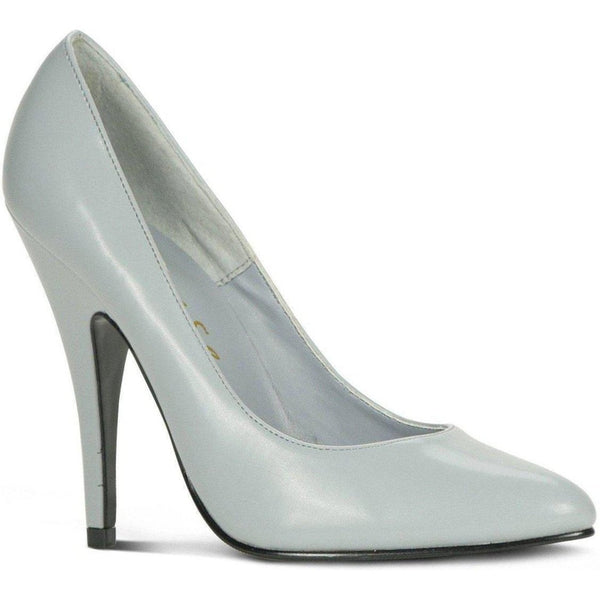 Sexy-4211 Vintage High Heel Pump | Grey Faux Leather