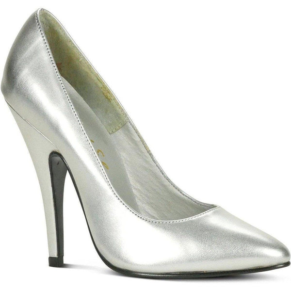 Sexy-4211 Vintage High Heel Pump | Silver Metallic