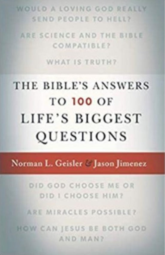 The Bible's Answers to 100 of Life's Biggest Questions, Paperback