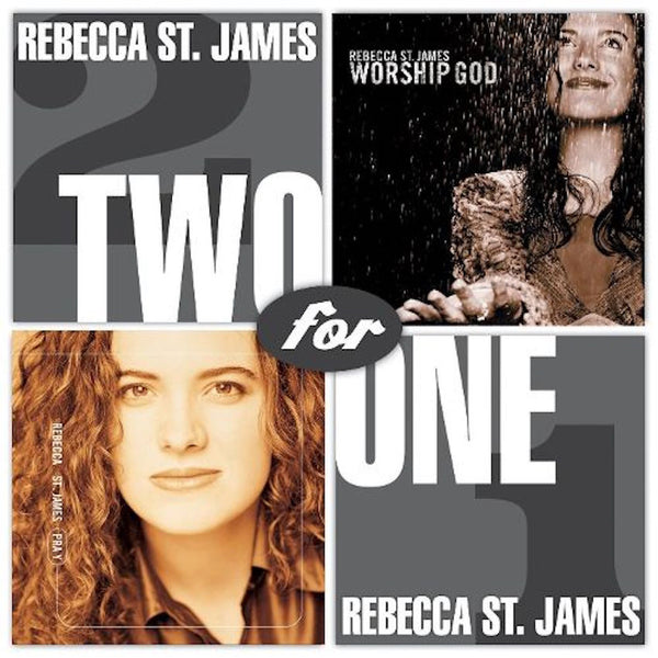 Two For One: Pray / Worship God, Rebecca St. James, 2CD, English
