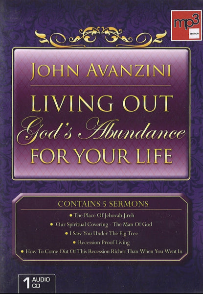 Living Our God's Abundance For Your Life, 1CD, English