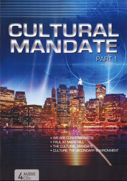 Cultural Mandate (Blue Cover) Part 1, 4CD, English