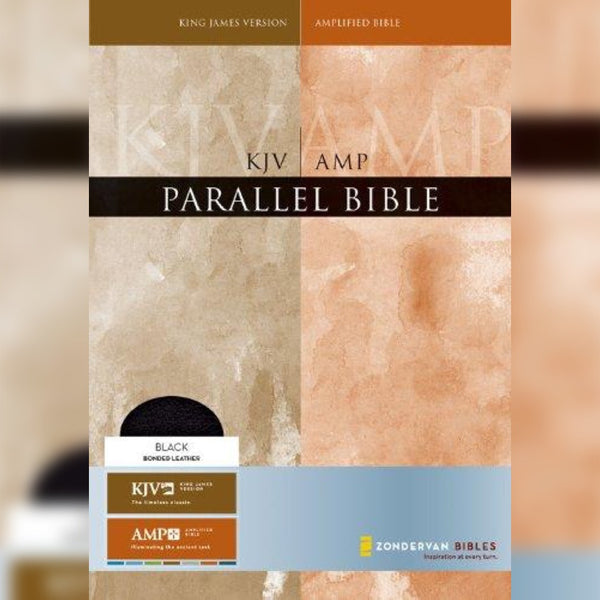 KJV/AMP Parallel Bible Large Print, Hardcover, English