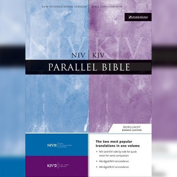 NIV/KJV Parallel Bible Large Print, Hardcover, English