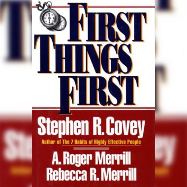 First Things First, Paperback, English