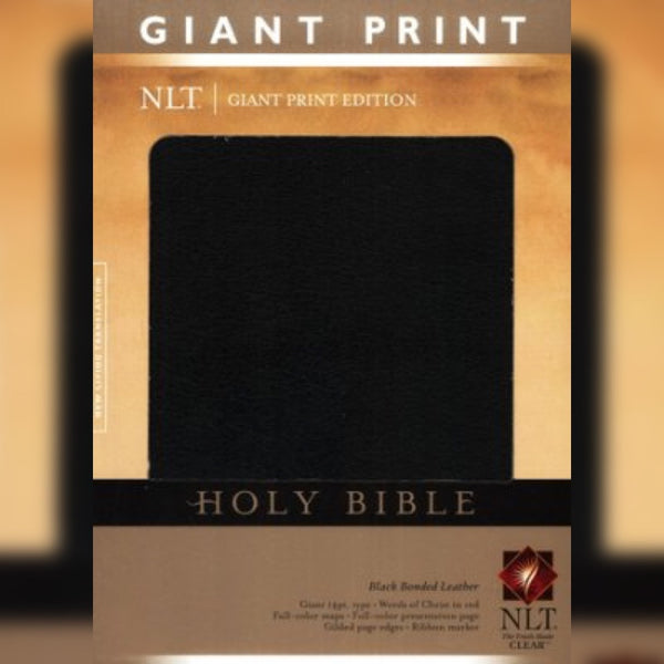 NLT Holy Bible: Giant Print Edition, Black Bonded Leather, English
