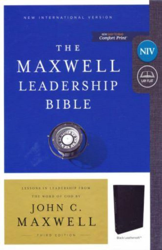 NIV Maxwell Leadership Bible 3rd Ed, Leathersoft, Black, CP