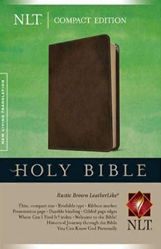 NLT Compact Ed Bible, Leatherlike brown,Tyndale