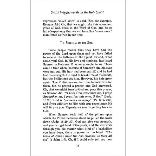 Smith Wigglesworth on the Holy Spirit, Paperback, English