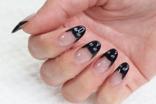 Black Cat Nails | Halloween Dip Nail Tutorials by DipWell