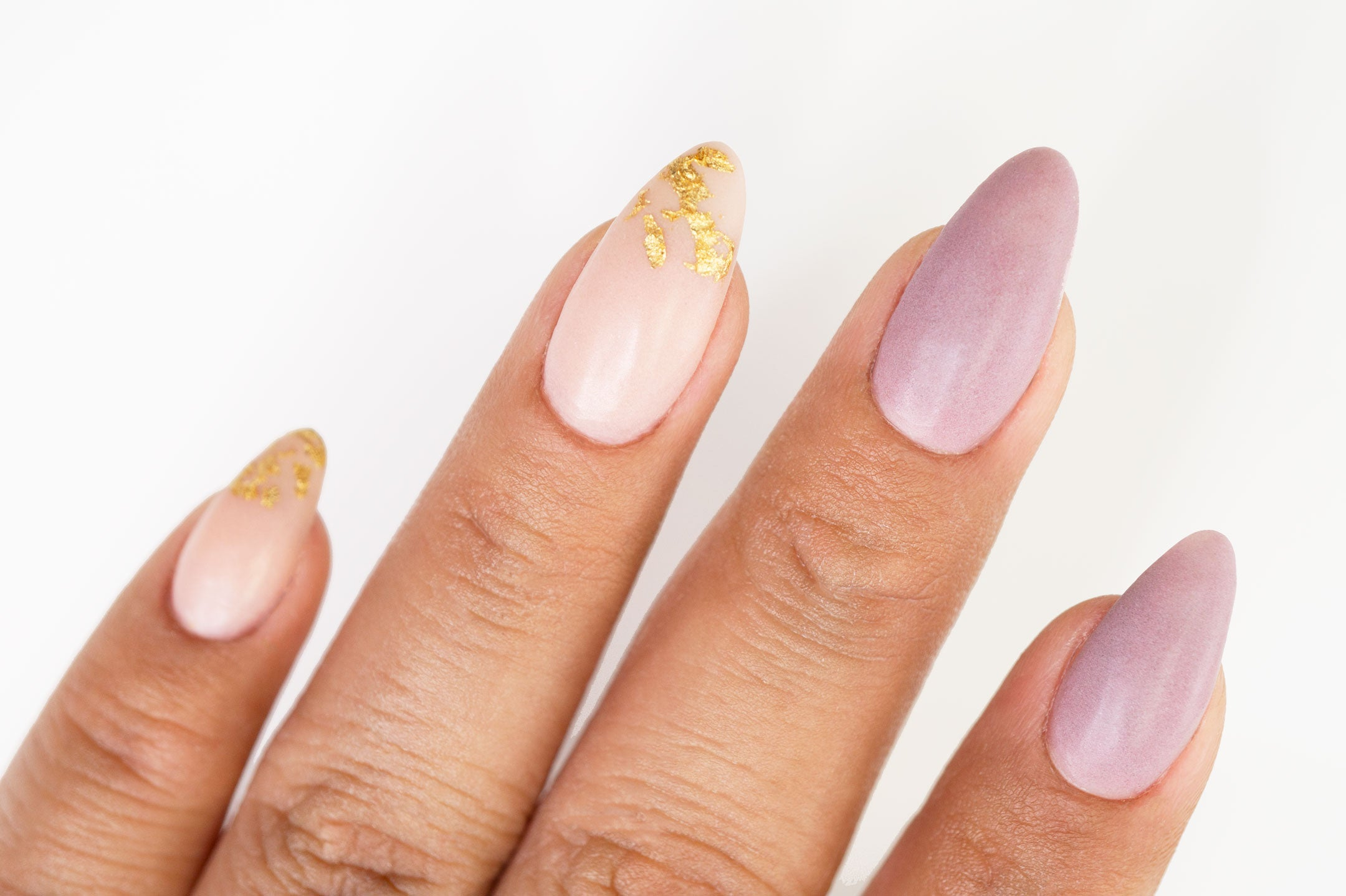 Matte Nails with Gold Foil | DipWell Nail Tutorial