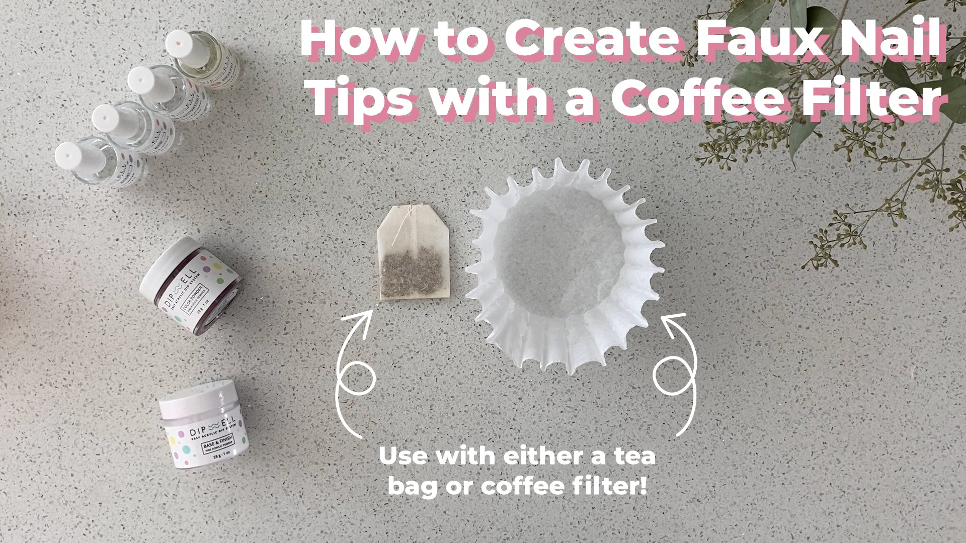 coffee filter nail tips
