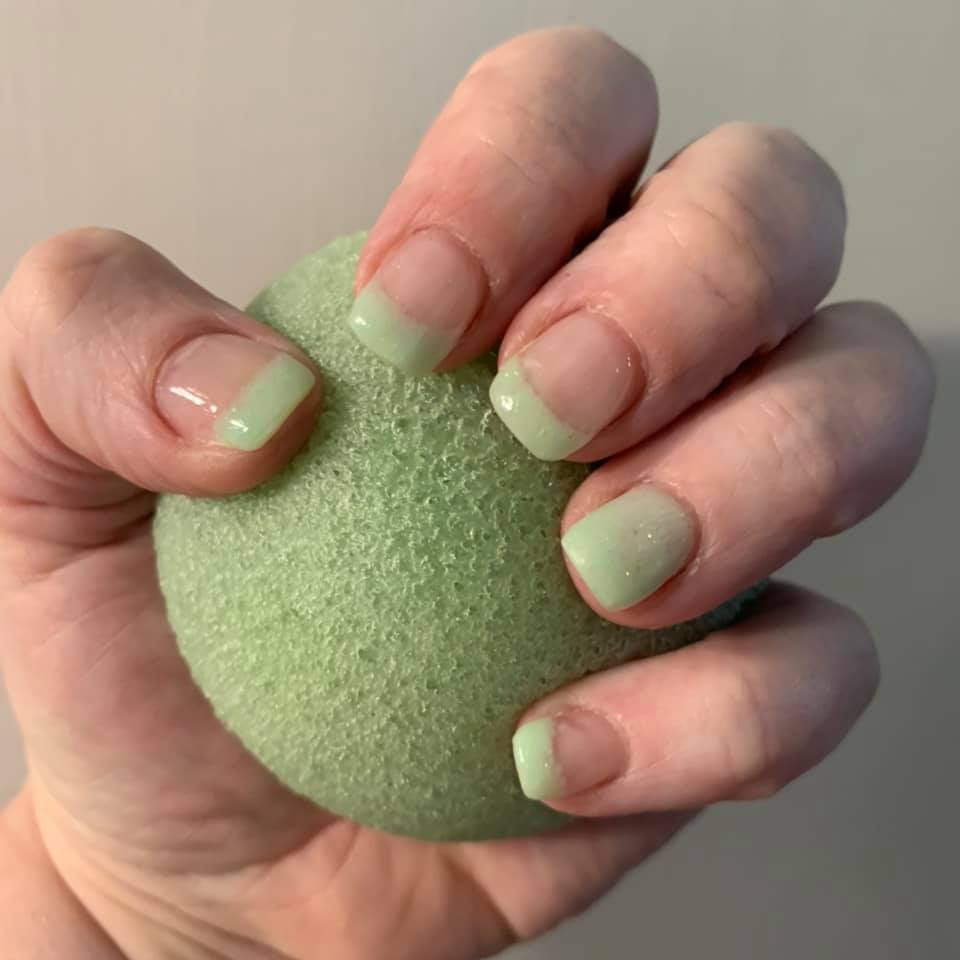 Glow in the dark French Mani