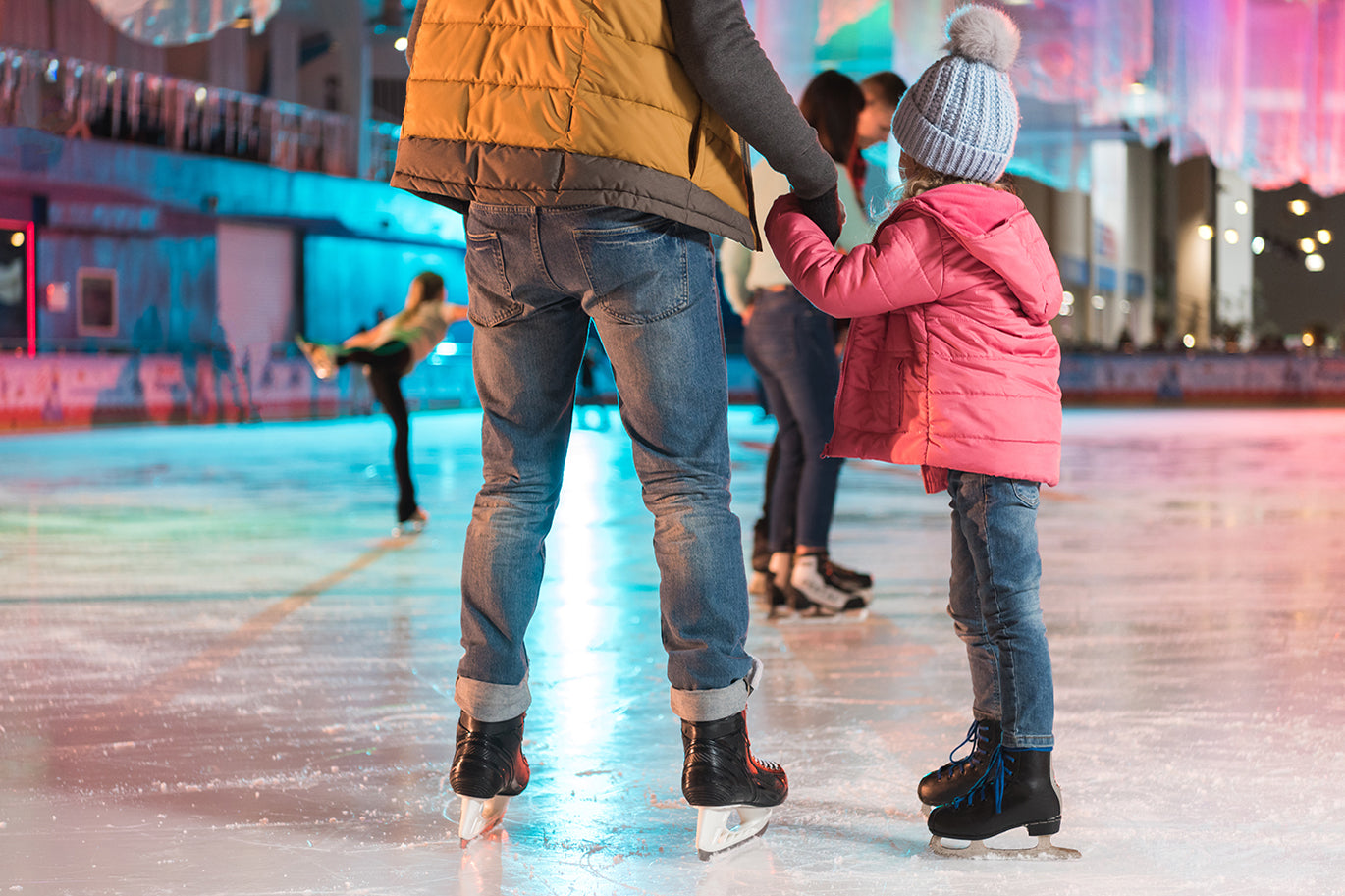 Holiday Ice Skating with Family | DipWell Nails
