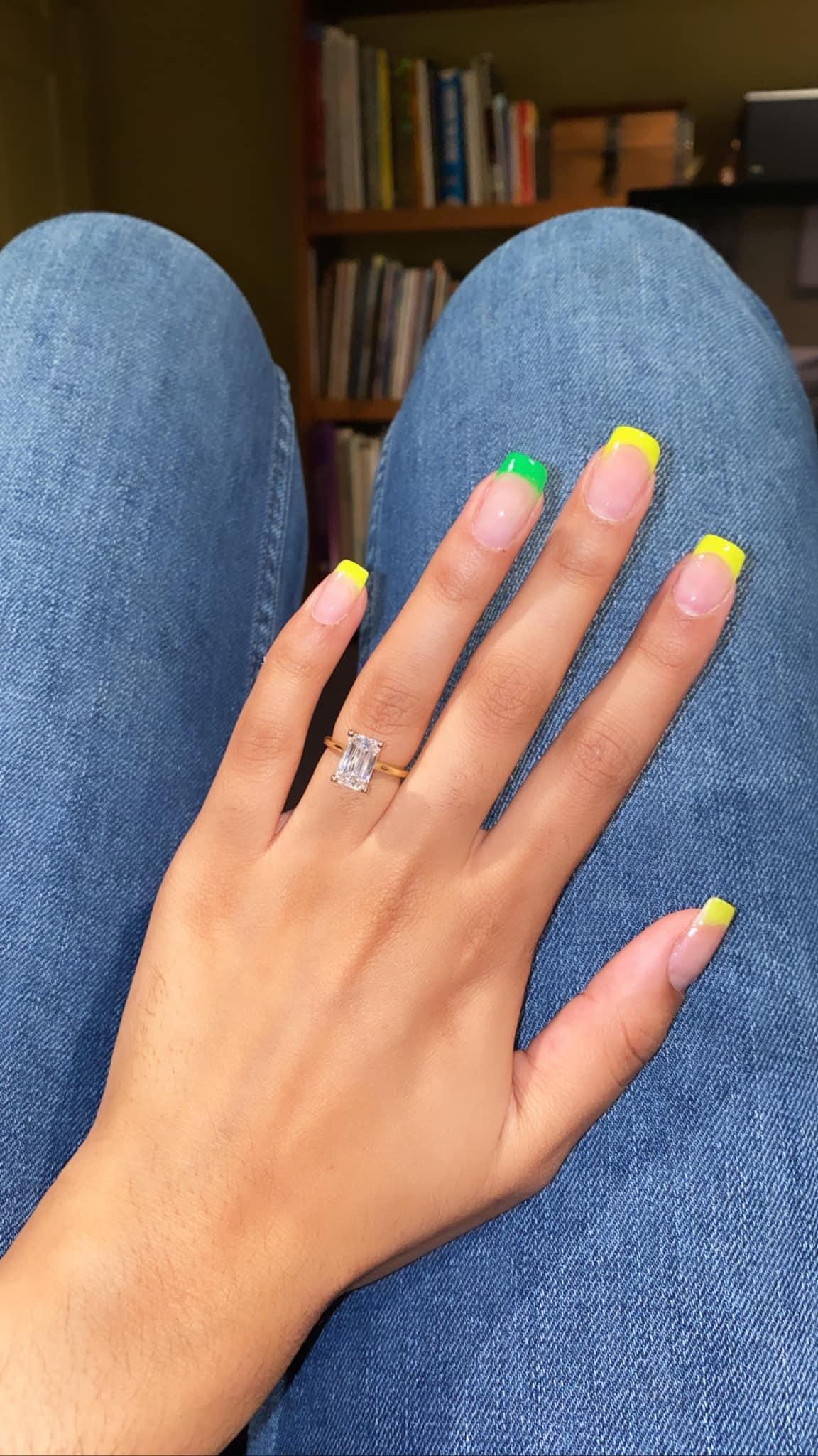 Gorgeous nails paired with a gorgeous ring