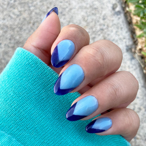blue fall nail colors
