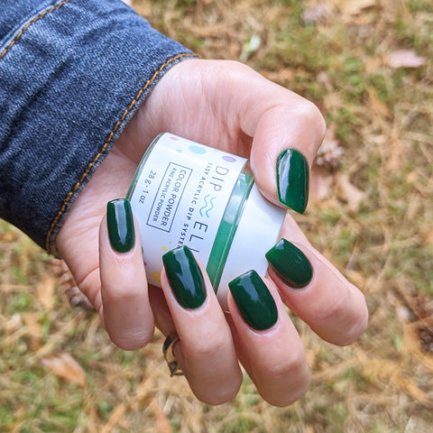 green fall nail colors