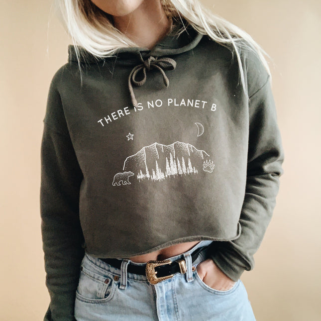 There Is No Planet B Athletic Crop Hoodie