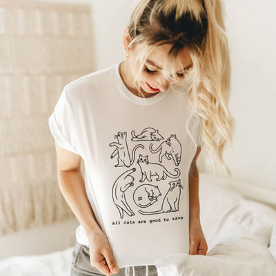 All Cats Are Good To Save - Eco Tee