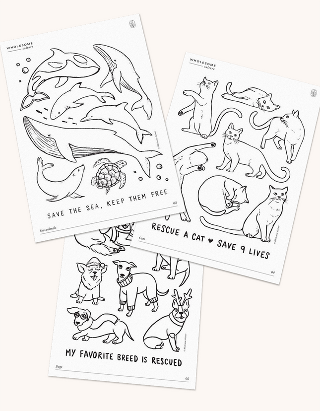 Wholesome Culture Printable Coloring Book Variety Pack