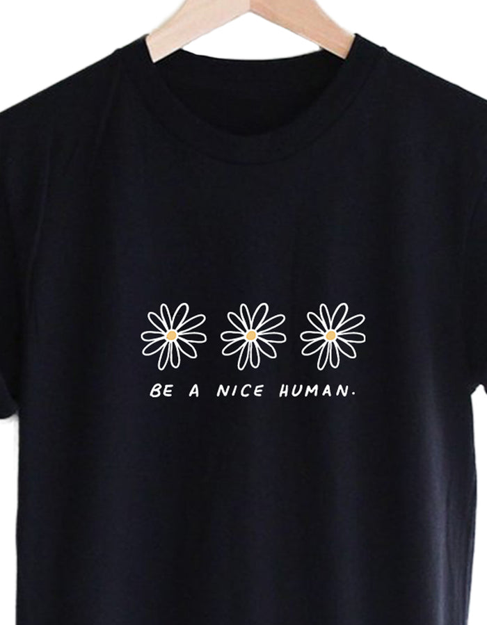 Be A Nice Human, Colored Version  - Eco Tee