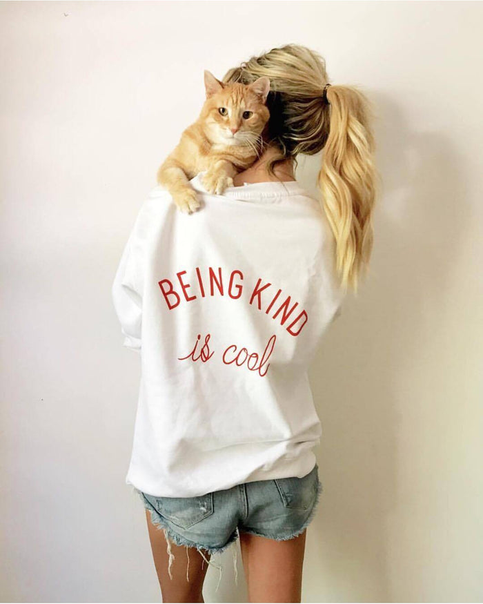 Sweatshirt - Being Kind Is Cool - Unisex Crewneck Sweatshirt