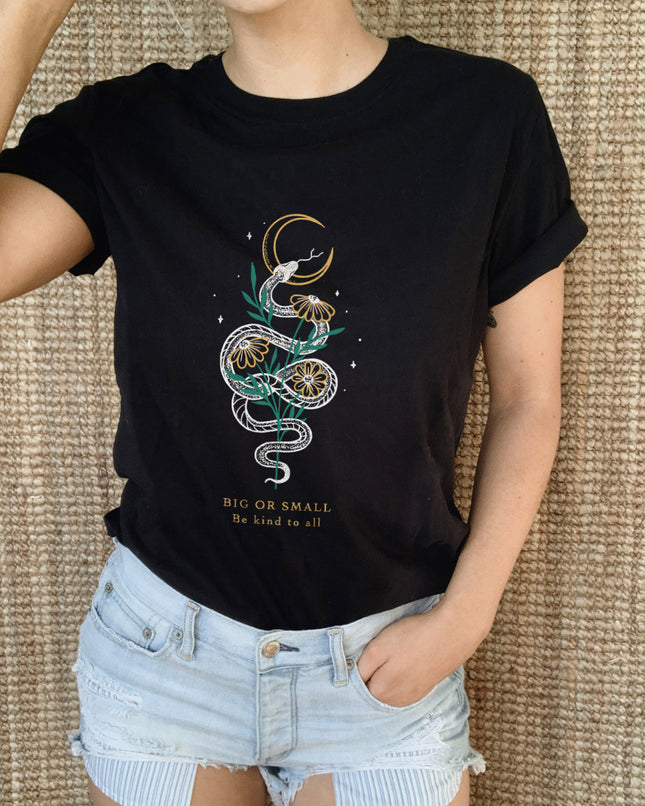 Big Or Small Be Kind To All Eco Tee