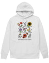 Bloom Where You Are Planted Botanical Flower. Colored - Hoodie (without zip)