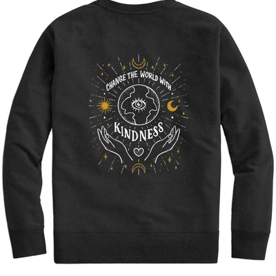 Change The World With Kindness. Colored - Crew Sweatshirt