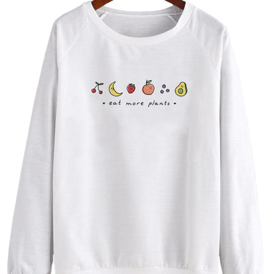 Eat More Plants. Colored V2 - Crew Sweatshirt (Pre-Order)