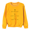 Help More Bees, Plant More Trees, Clean the Seas. - Crew Sweatshirt