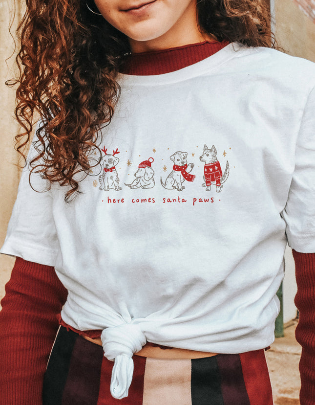 Here Comes Santa Paws Tee