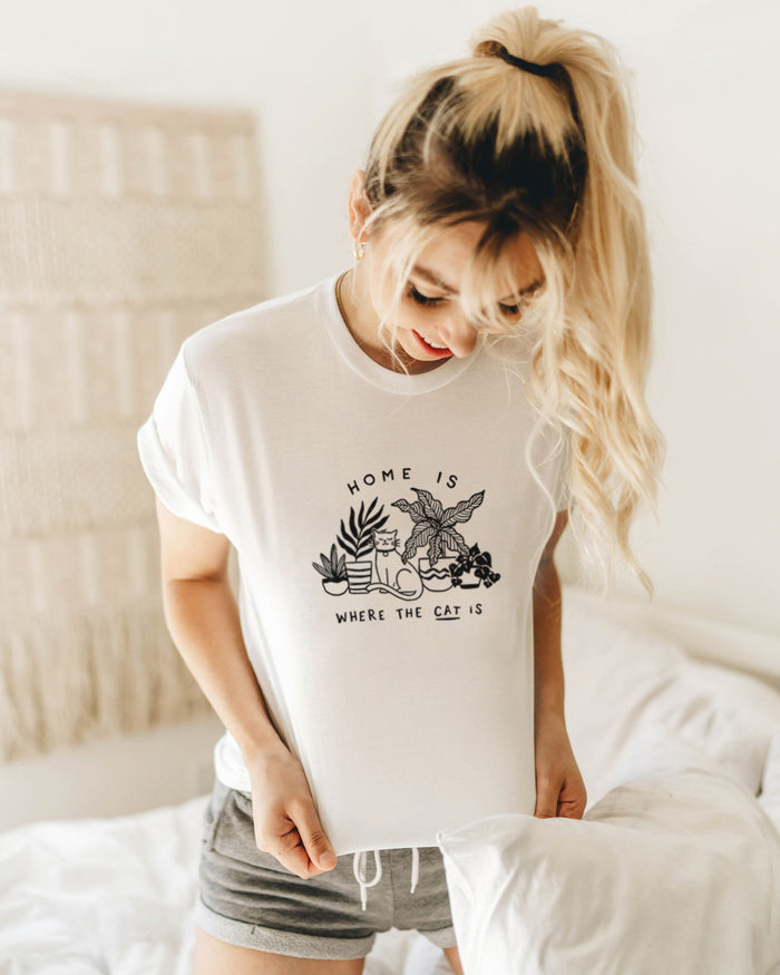 Home Is Where Cat Is - Eco Tee