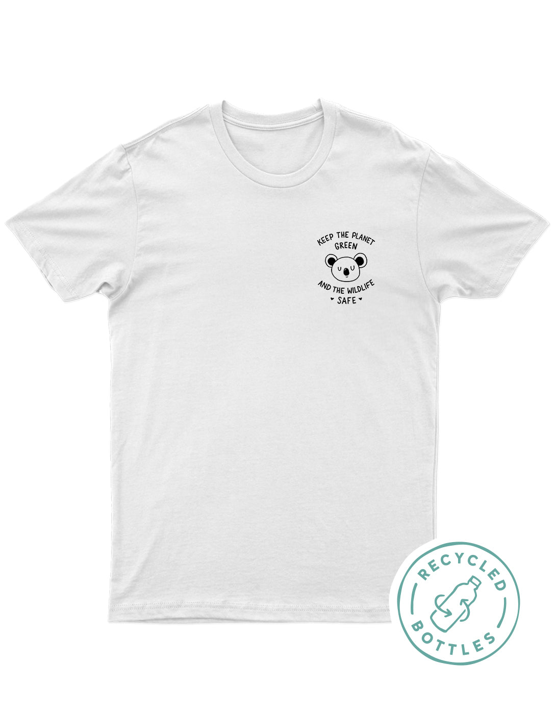 Planet Sea Pink Peace Sign Top White