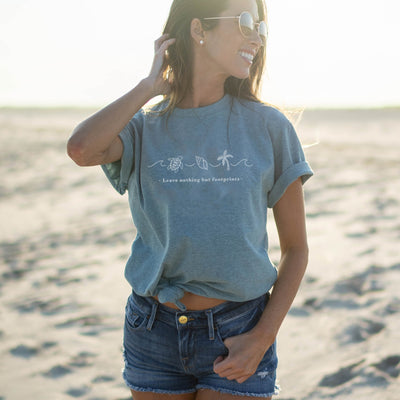 Leave Nothing But Footprints - Eco Tee