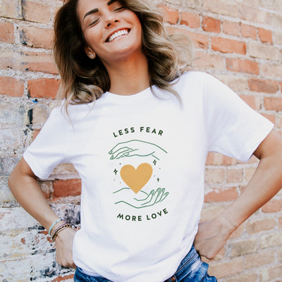 Less Fear More Love. Colored - Eco Tee