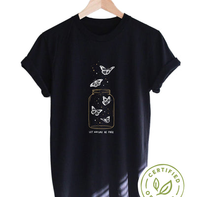 Let Nature Be Free. Colored - Organic Tee