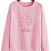 Love Is Taking Care of The Planet V2 - Crew Sweatshirt (Pre-Order)