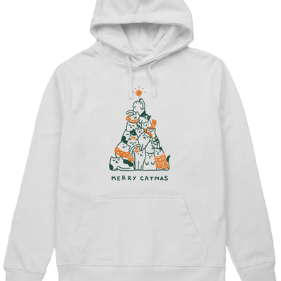 Merry Catmas. Colored - Hoodie (without zip) (Pre-Order)