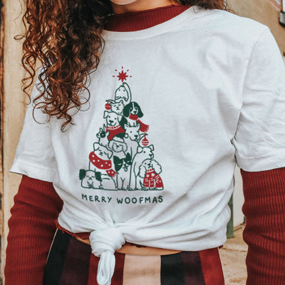 Merry Woofmas. Colored - Eco Tee