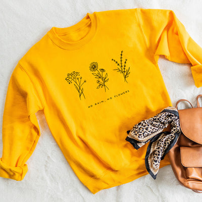 No Rain No Flowers - Crew Sweatshirt