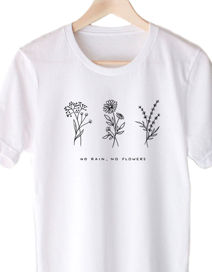 No Rain No Flowers - Eco Tee