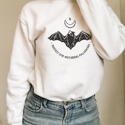 Protect Our Nocturnal Pollinators - Crew Sweatshirt