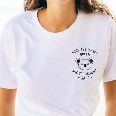 Keep The Planet Green And The Wildlife Safe - Eco Tee