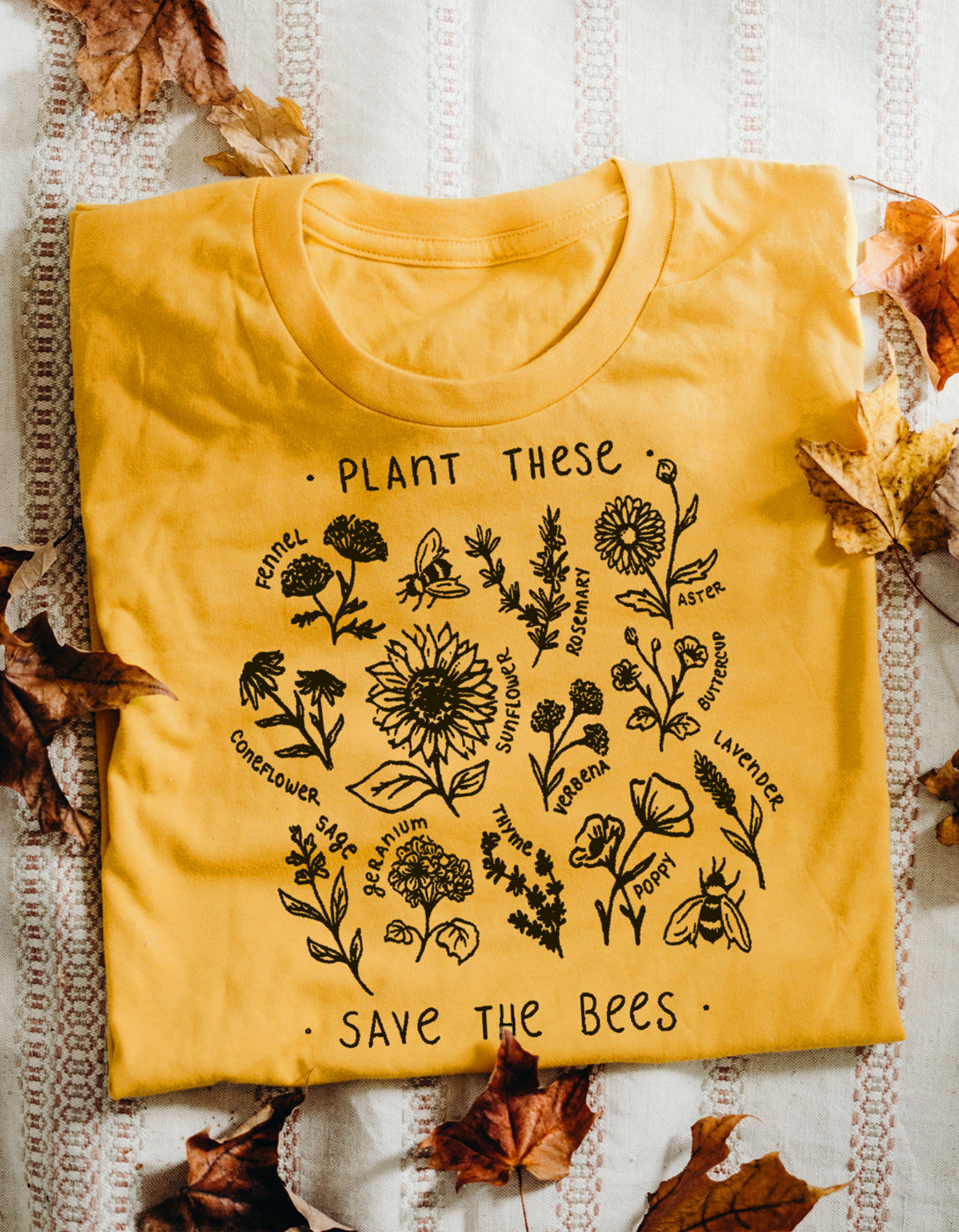 00914698 Plant These, Save The Bees - Tee - Wholesome Culture