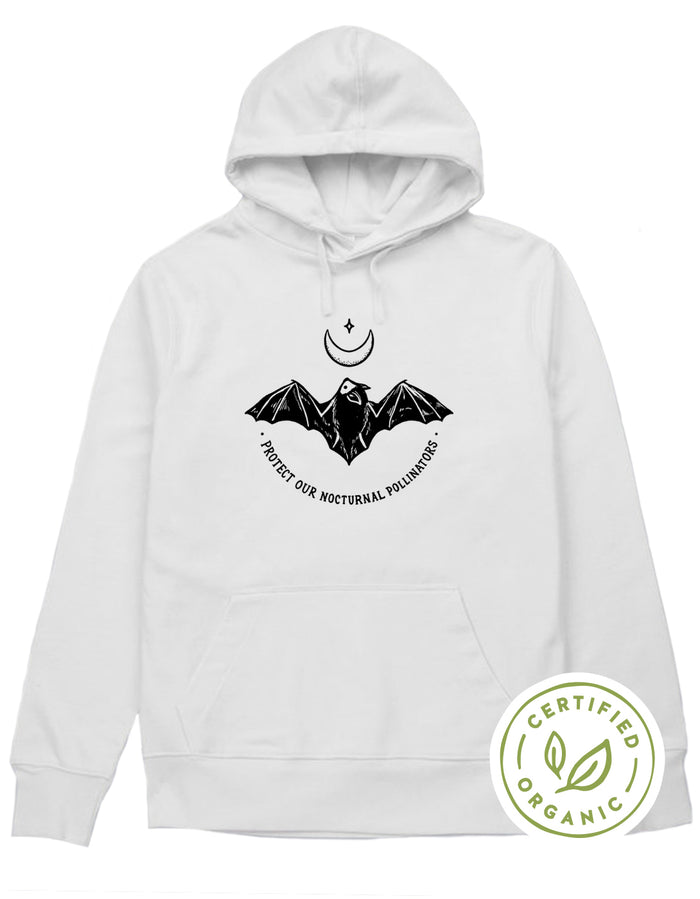 Protect Our Nocturnal Pollinators Organic Hoodie